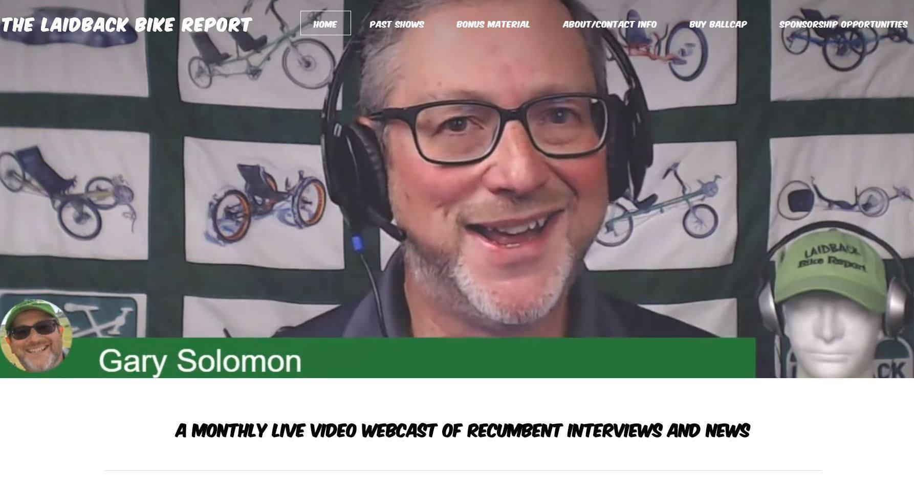 Gary Solomon Laidback Bike Report